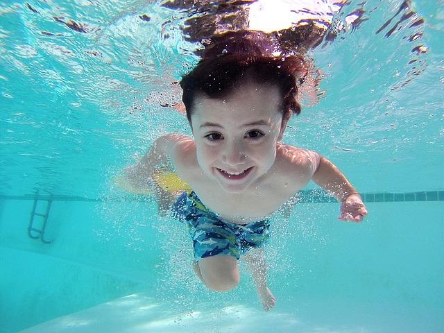 úsměv pod vodou