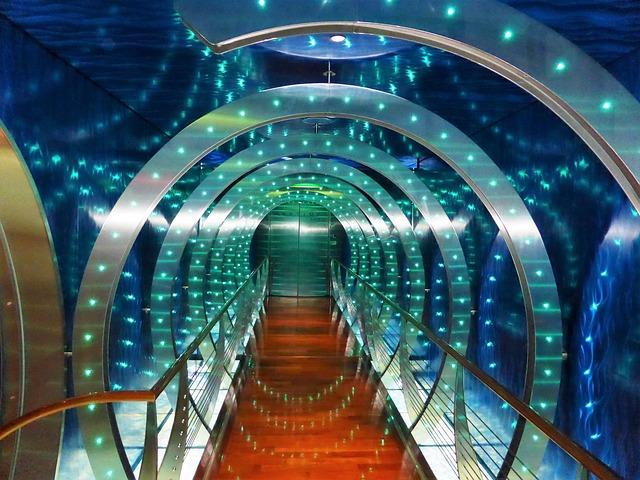 LED osvětlení tunelu