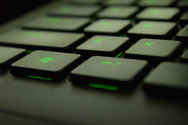 klávesnice, detail